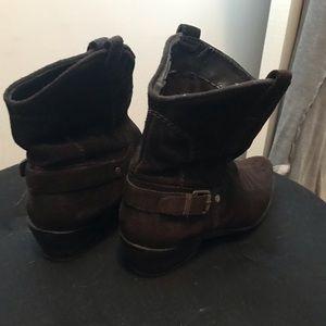 Franco Sarto Shoes - Franco Sarto brown suede low calf boot